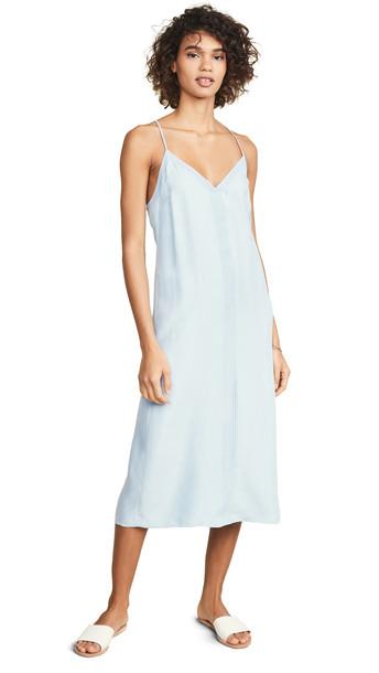 FRAME Midi Slip Dress in blue