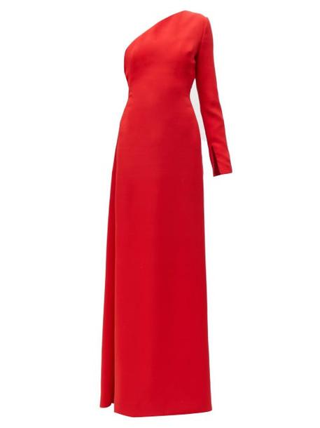 Carolina Herrera - One Shoulder Crepe Gown - Womens - Red