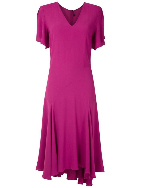 Reinaldo Lourenço flared midi dress in pink