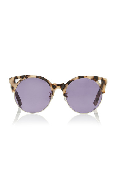 Pared Eyewear Tortoiseshell Acetate Cat-Eye Sunglasses in black