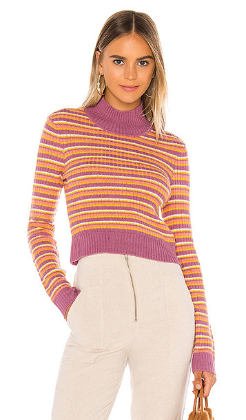 Tularosa Payton Sweater in Coral,Yellow,White,Purple