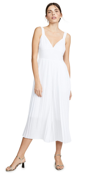 Vince Pleated Jumpsuit in white