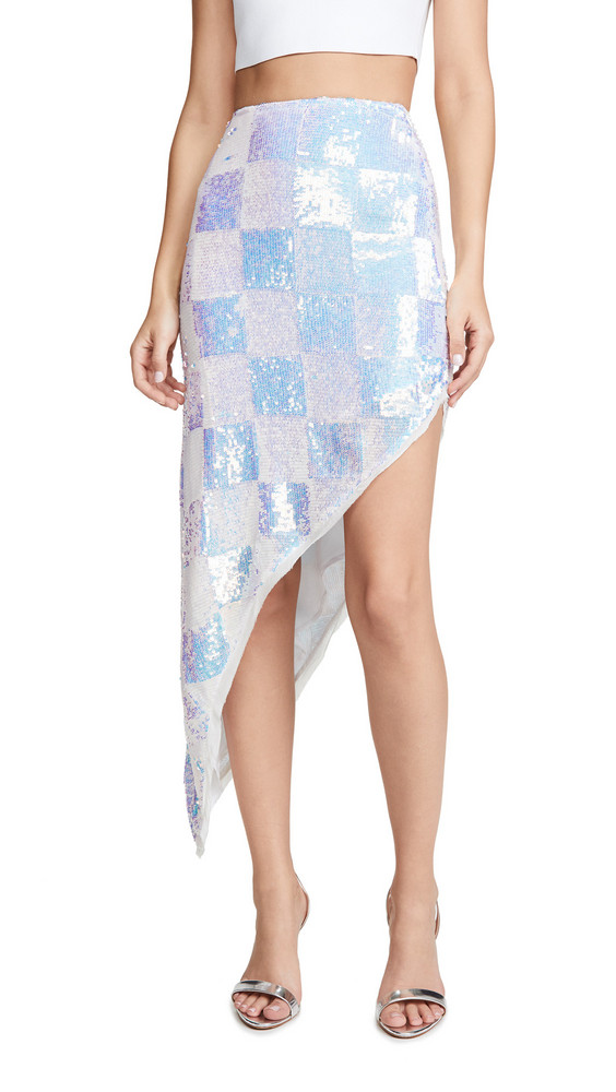 Retrofete Erika Sequin Skirt in white