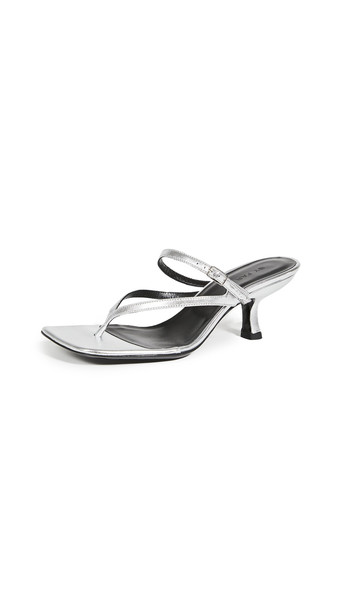BY FAR Desiree Sandals in silver