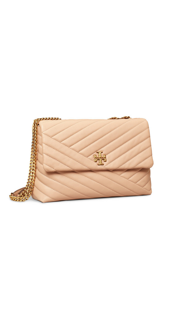 Tory Burch Kira Chevron Shoulder Bag in sand