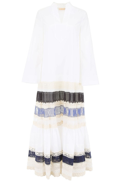 Tory Burch Dress With Lace in white