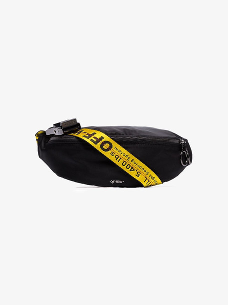 Off-White Black industrial logo strap belt bag