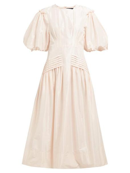 Simone Rocha - Gigot Sleeve Taffeta Midi Dress - Womens - Light Pink
