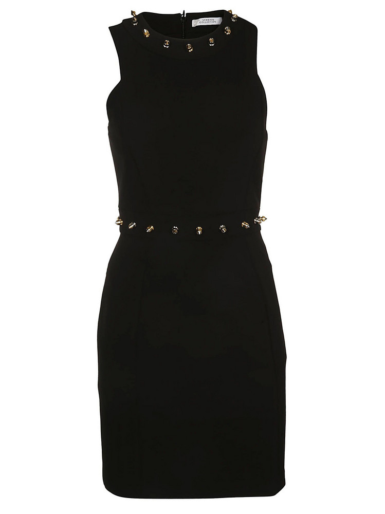 Versace Collection Embellished Dress in black