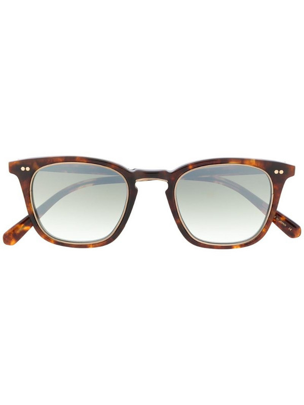 Garrett Leight square-frame mirrored sunglasses in brown