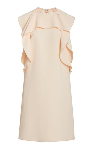 Victoria Victoria Beckham RUFFLE FRONT DRESS in pink
