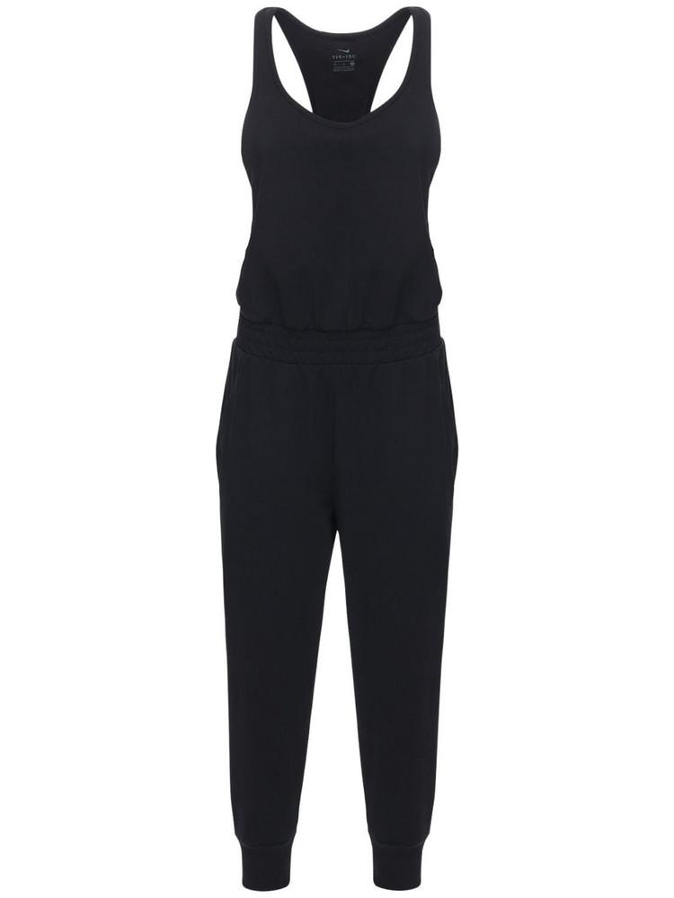 NIKE Jersey Training Jumpsuit in black