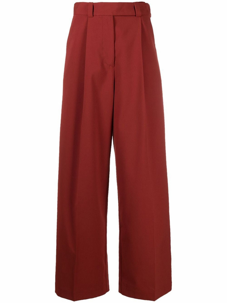 Aeron Manuela high-waisted tailored trousers in red
