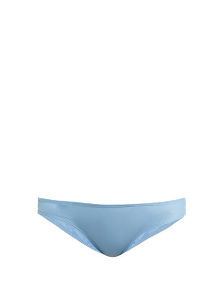 Ephemera - Classic Low Rise Bikini Briefs - Womens - Light Blue