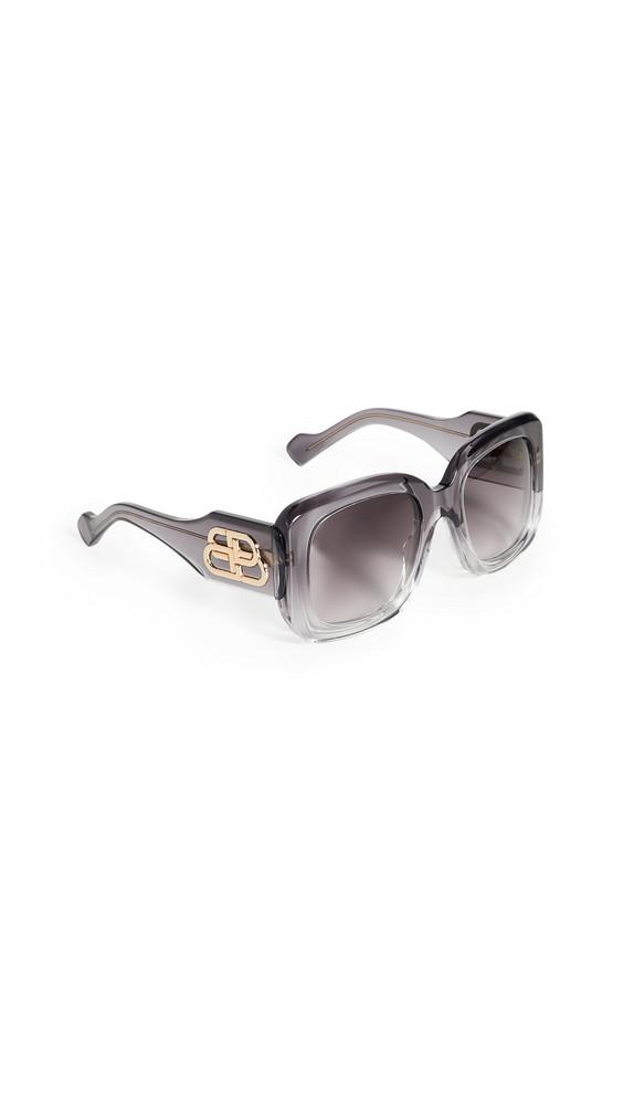 Balenciaga Paris Square Sunglasses in gray