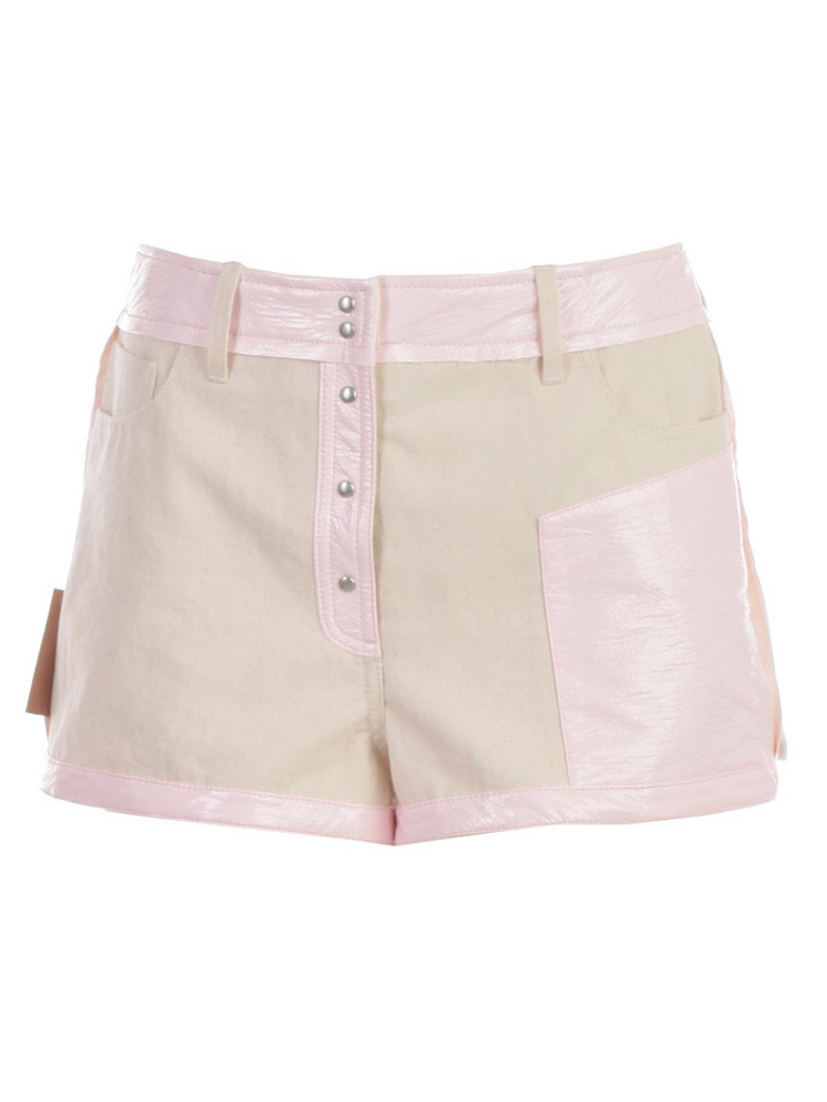 Courrèges Courreges Buttoned Shorts in pink / white