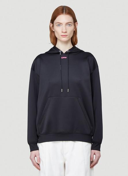 Off-White Oversize Hooded Sweatshirt in Black size IT - 38