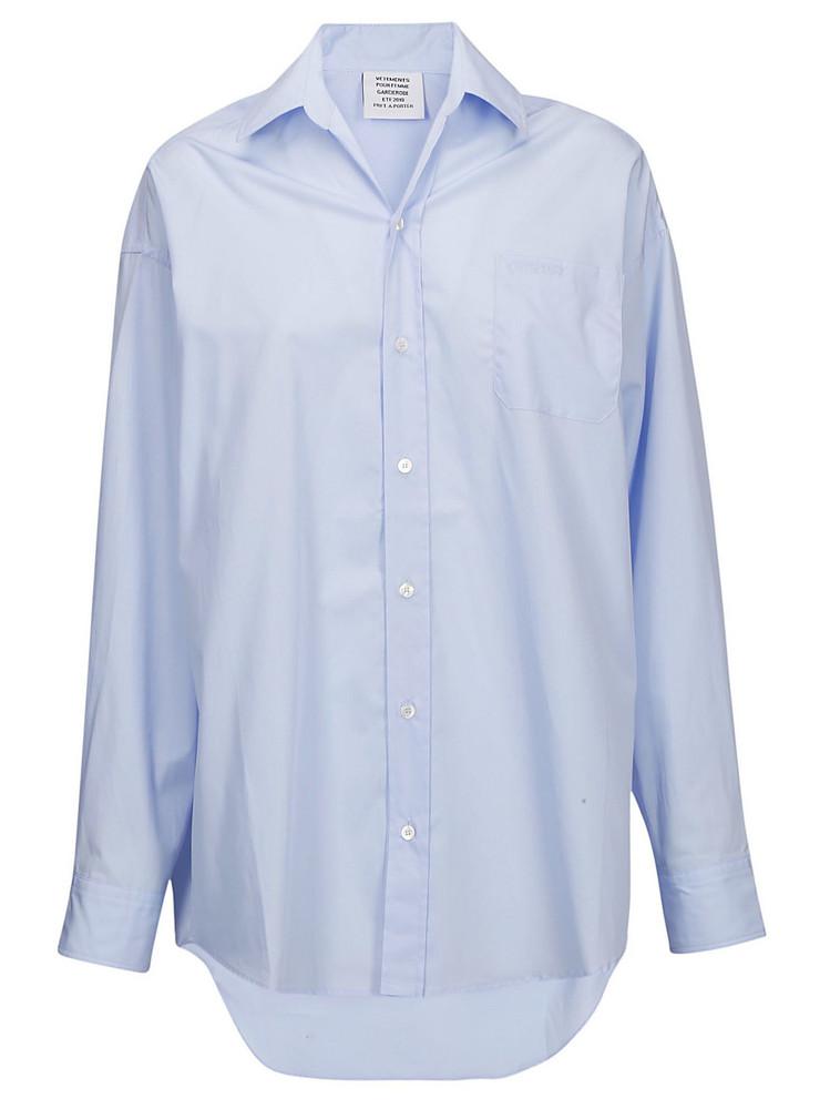 Vetements Oversize Shirt in blue