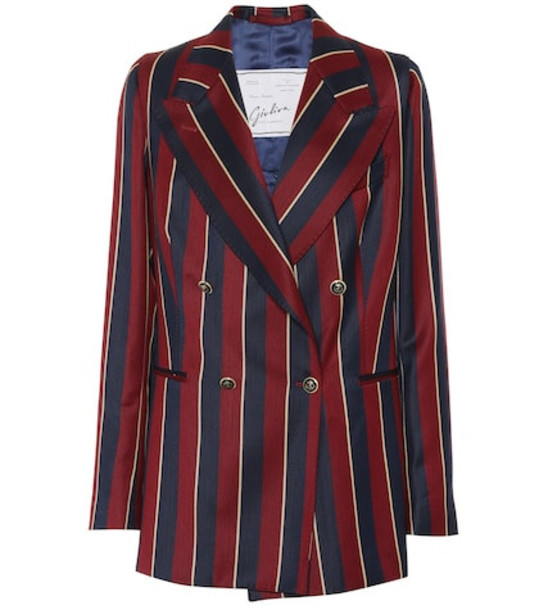 Giuliva Heritage Collection The Stella striped wool blazer in red