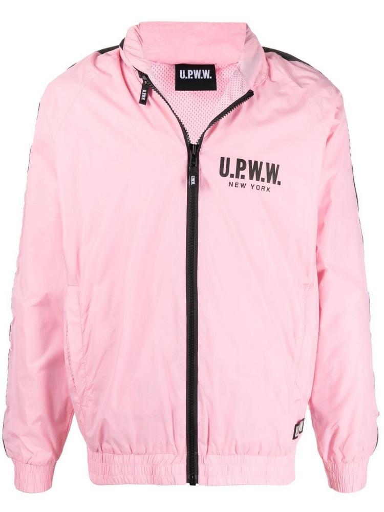 U.P.W.W. U.P.W.W. logo-print hooded jacket - Pink