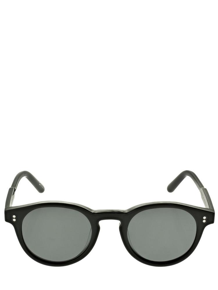 CHIMI 03 Round Acetate Sunglasses in black