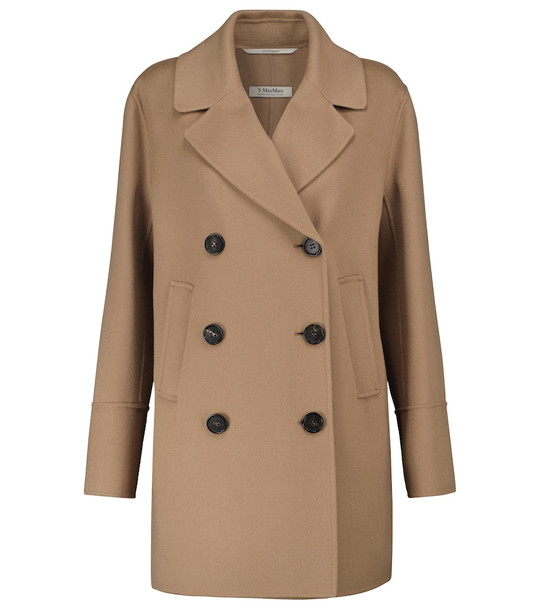 'S Max Mara Caban double-breasted wool coat in beige