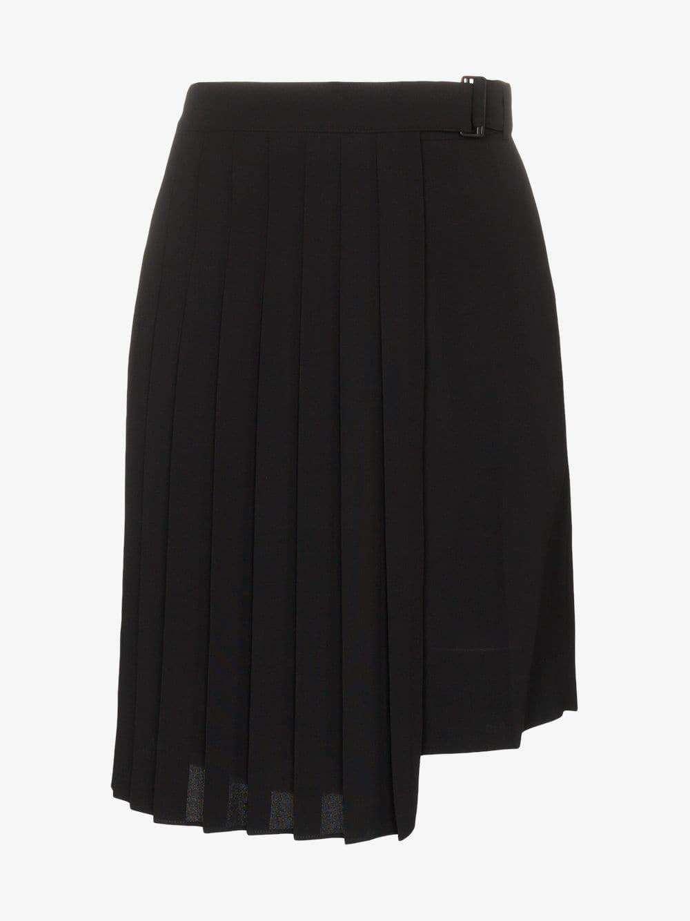 Juun.J pleated apron skirt in black