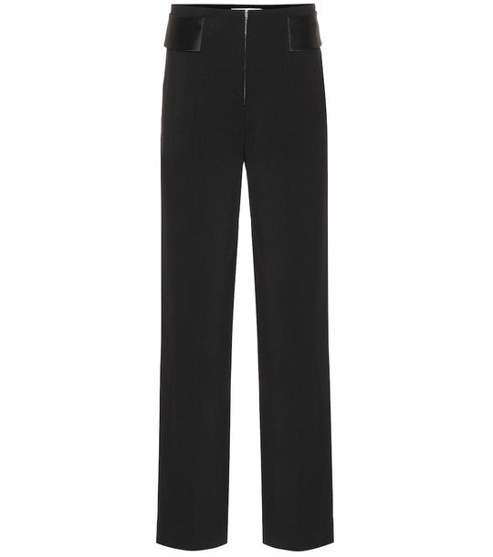 Victoria Beckham High-rise wool pants in black