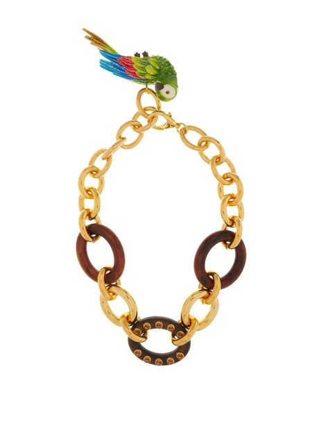 Dolce & Gabbana - Parrot-charm Chain Necklace - Womens - Gold
