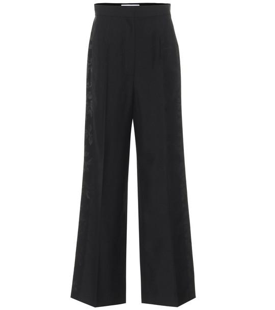 Loewe High-rise wool jacquard pants in black