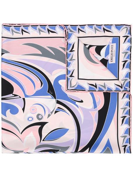 Emilio Pucci Tropico print scarf in blue