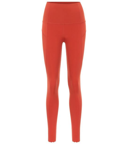 Varley Wesley high-rise leggings in red