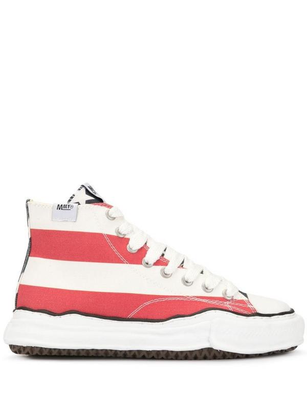 Maison Mihara Yasuhiro stripe print sneakers in red