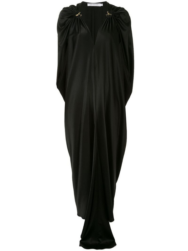 Christopher Esber draped evening dress in black