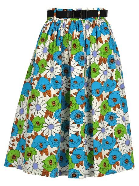 Prada Skirt Blossom in blue / print