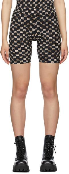 MISBHV Black Monogram Biker Shorts