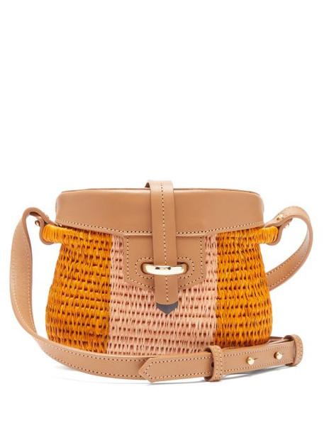 Khokho - Jabu Leather Trimmed Mini Basket Bag - Womens - Pink Multi