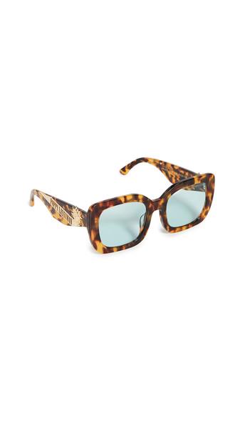 Poppy Lissiman Helios Sunglasses in green