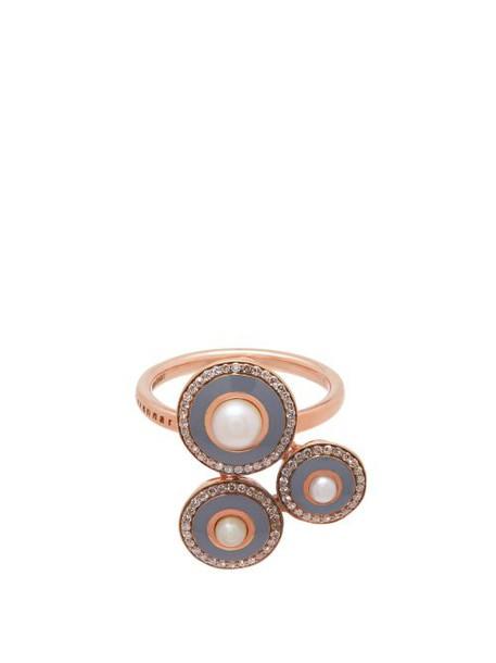 Selim Mouzannar - Mina 18kt Rose Gold, Diamond & Pearl Ring - Womens - Grey