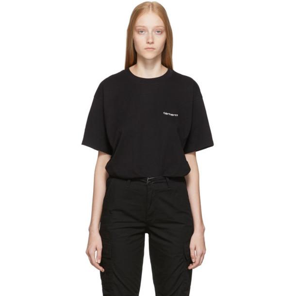 Carhartt Work In Progress Black Script Embroidery T-Shirt