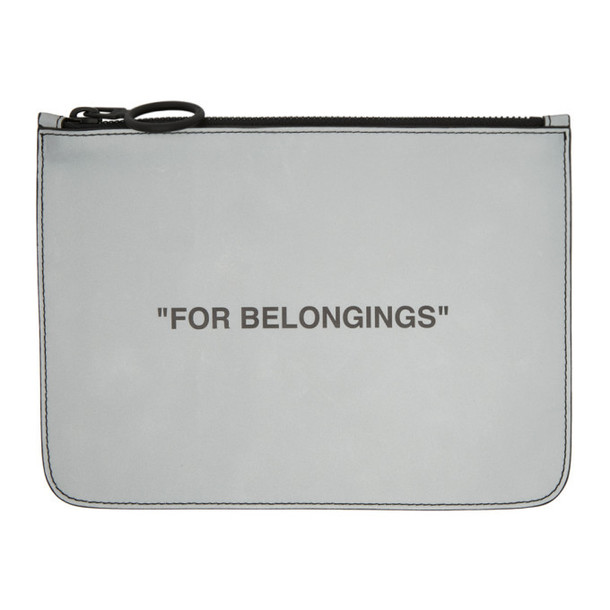 Off-White Grey Quote Pouch