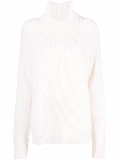 Karl Lagerfeld appliqué-logo knitted jumper - White