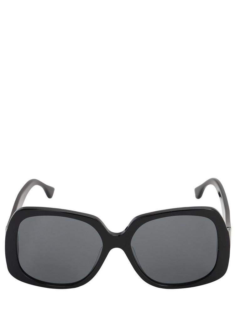 GEORGE KEBURIA Oversize Square Acetate Sunglasses in black