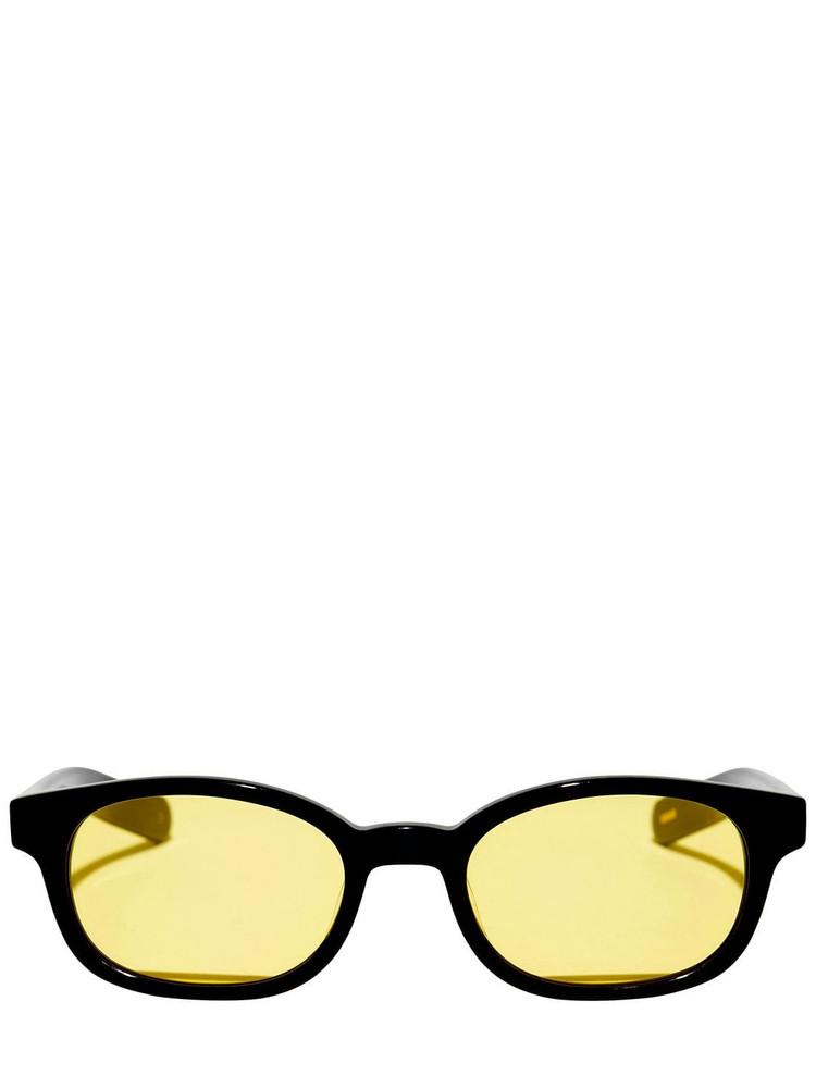 FLATLIST EYEWEAR Le Bucheron Acetate Sunglasses in black / yellow