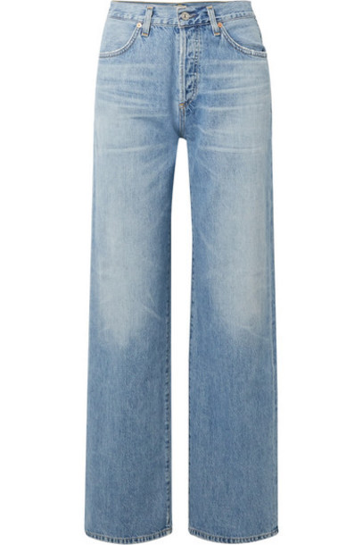 Citizens of Humanity - Annina High-rise Wide-leg Jeans - Light denim