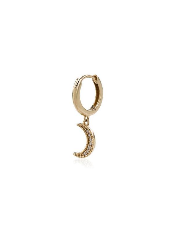 Andrea Fohrman Crescent Moon hoop single earring in gold