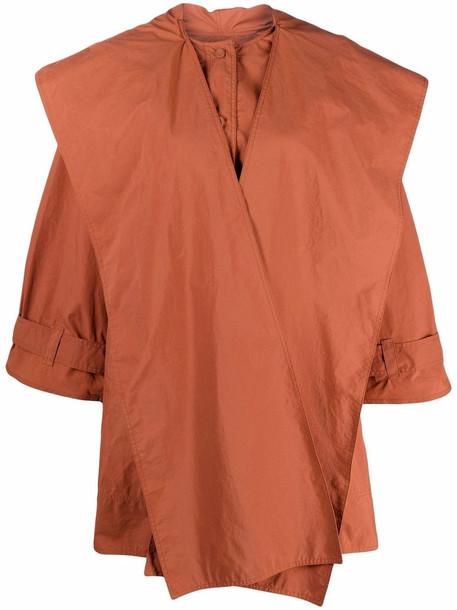 Aeron Kaura waterproof trench coat - Orange