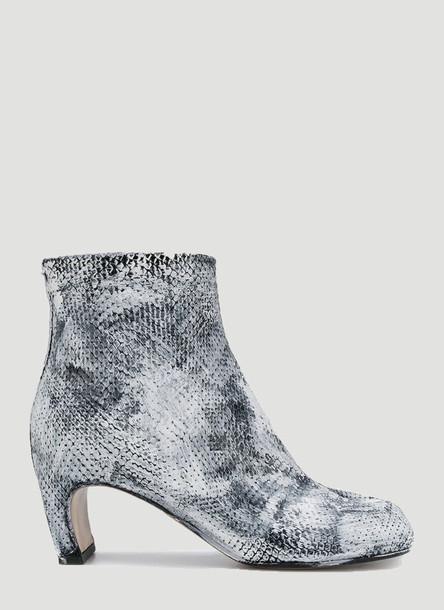 Maison Margiela Tabi Snake-Print Boots in Grey size EU - 38