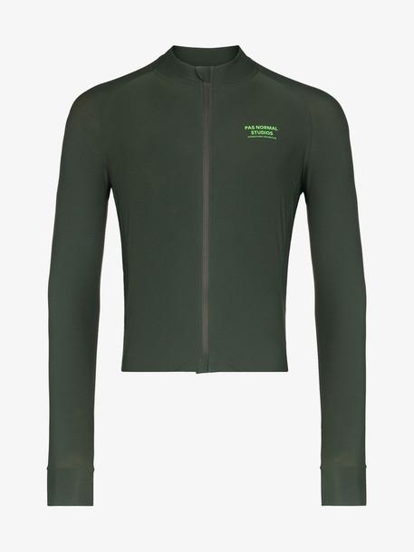Pas Normal Studios green control jersey long sleeve T-shirt