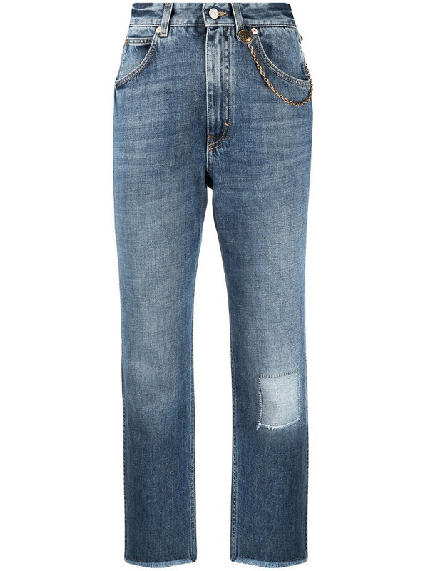 Givenchy mid-rise cropped jeans in blue
